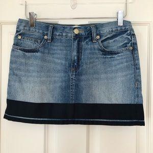 Henry & Belle | Ribbon Trimmed Denim Mini Skirt